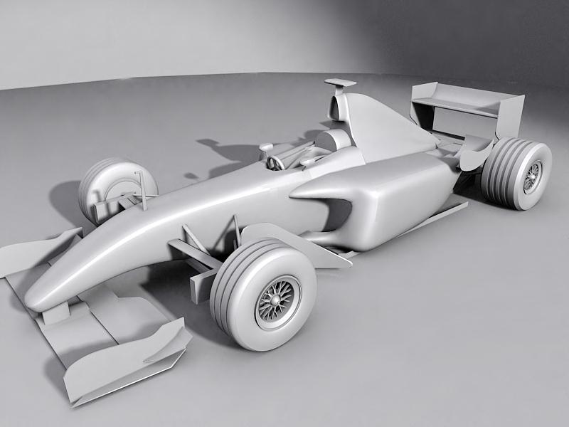 Ferrari F1 Race Car 3d rendering