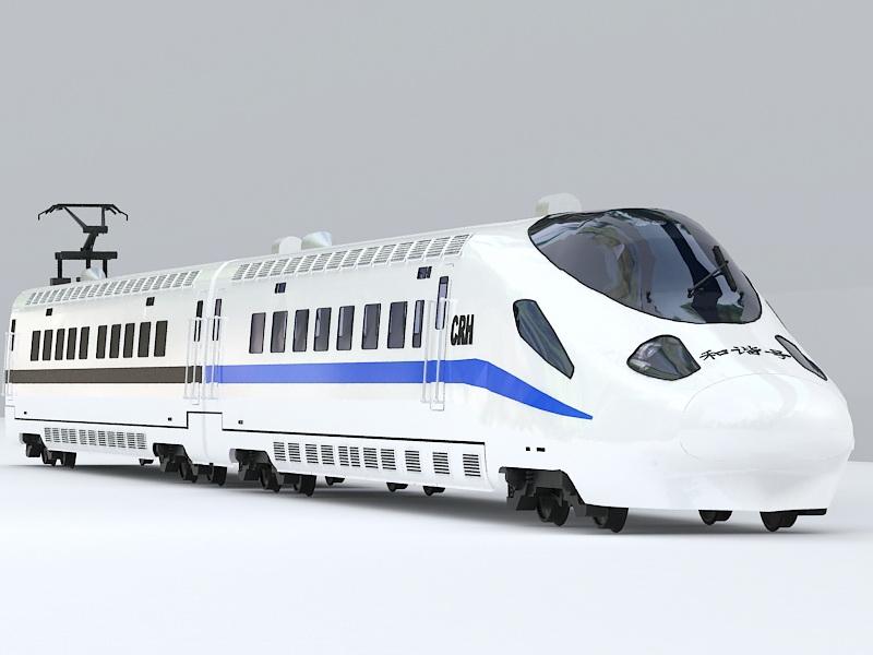 China CRH High Speed Train 3d rendering