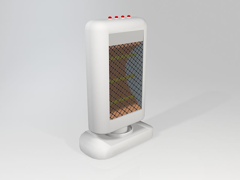 Electric Radiative Space Heater 3d rendering