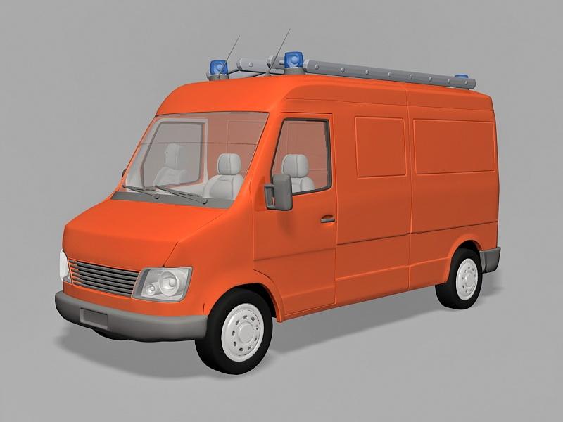 Small Fire Truck 3d rendering
