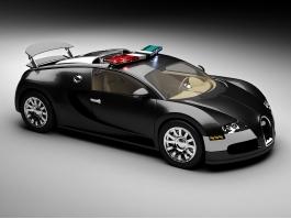 Bugatti Veyron Police Car 3d model preview