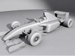 Ferrari F1 Race Car 3d preview