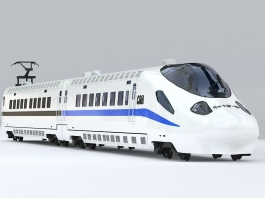 China CRH High Speed Train 3d preview