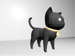 Black Cat Cartoon 3d preview