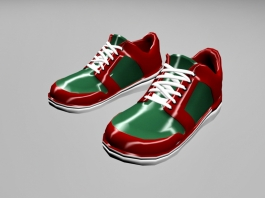Red and Green Sneakers 3d preview