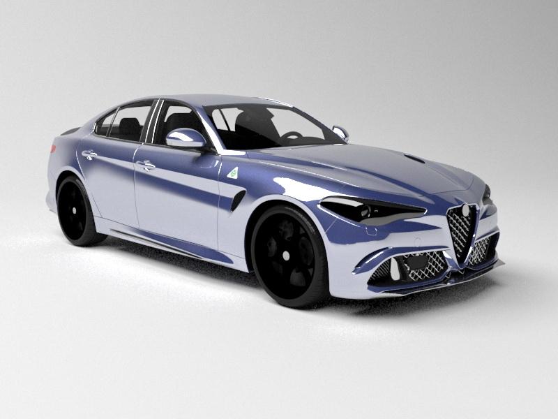 2015 Alfa Romeo Giulia 3d rendering