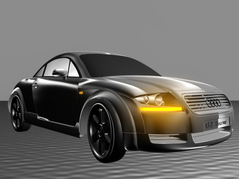 Audi TT Concept 3d rendering
