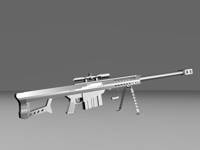 Barrett M107 Sniper Rifle 3d rendering