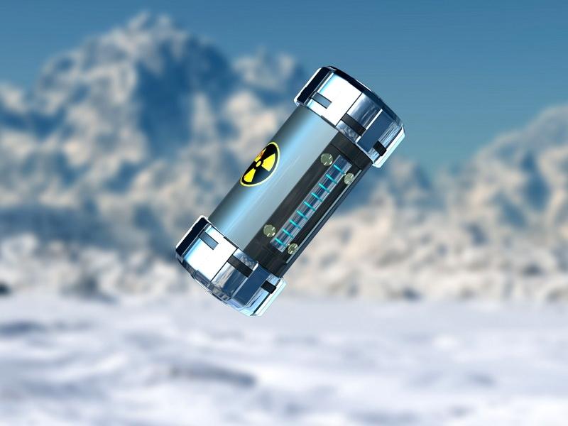 Biohazard Grenade 3d rendering