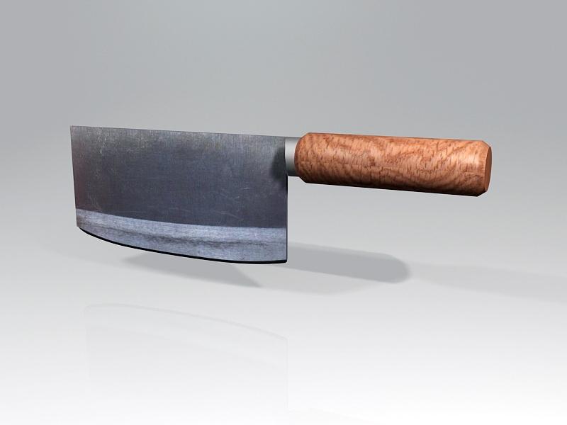 Cleaver Kitchen Knife 3d rendering