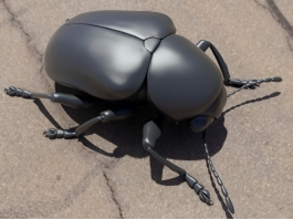 Water Scavenger Beetle 3d preview