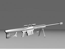 Barrett M107 Sniper Rifle 3d preview
