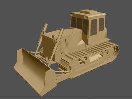 Tracked Bulldozer 3d preview
