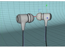 Wired Earphones 3d preview