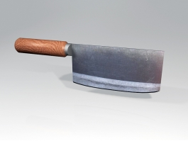 Cleaver Kitchen Knife 3d preview
