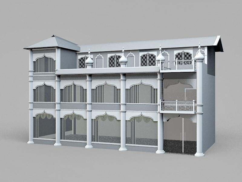 Arabian House Design 3d rendering