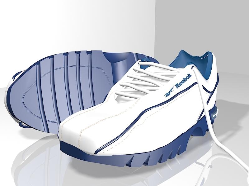 Reebok Sneakers 3d rendering