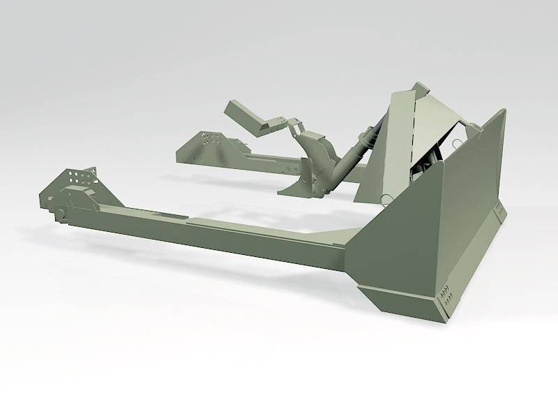 M1 Sherman Dozer Blade 3d rendering