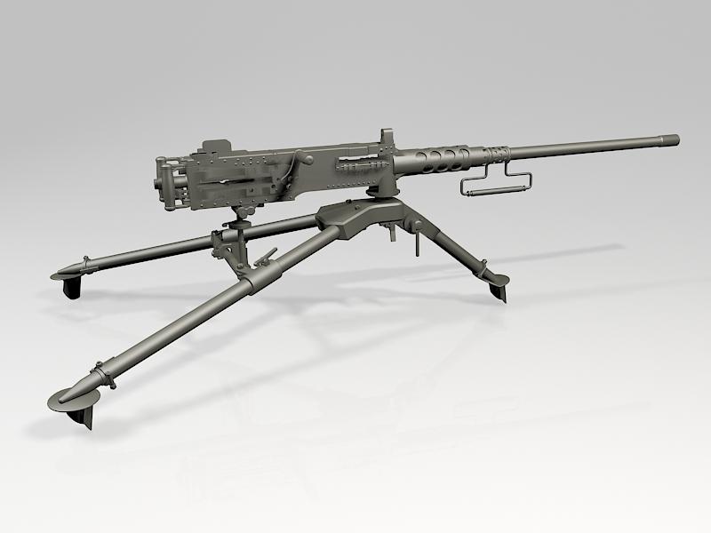 M2 Browning Machine Gun 3d rendering