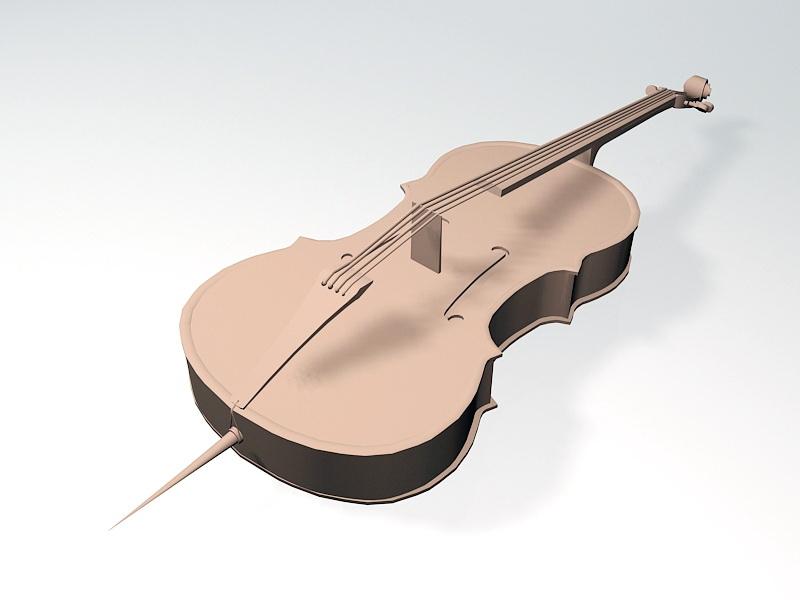 Cello Instrument 3d rendering
