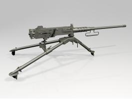 M2 Browning Machine Gun 3d preview