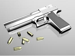 Pistol and Bullets 3d preview
