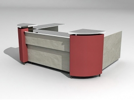 Small Reception Area 3d model preview