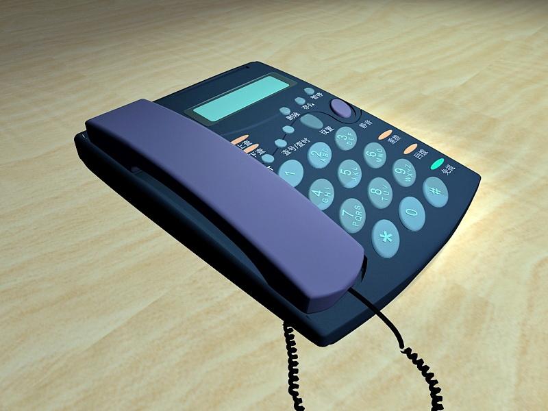 Amplified Corded Phone 3d rendering