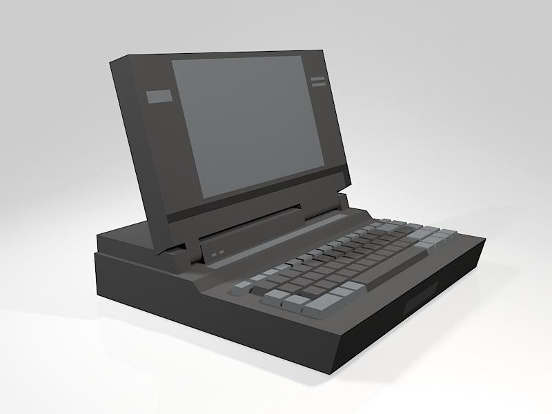 Old Laptop Computer 3d rendering