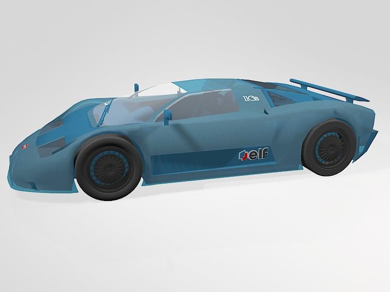 1991 Bugatti 11GB Toy Car 3d rendering