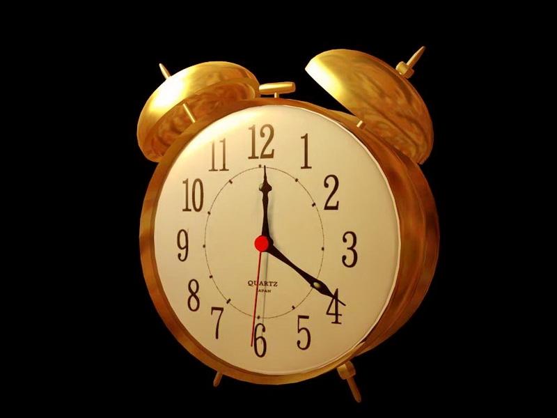 Retro Alarm Clock 3d rendering