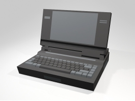 Old Laptop Computer 3d preview