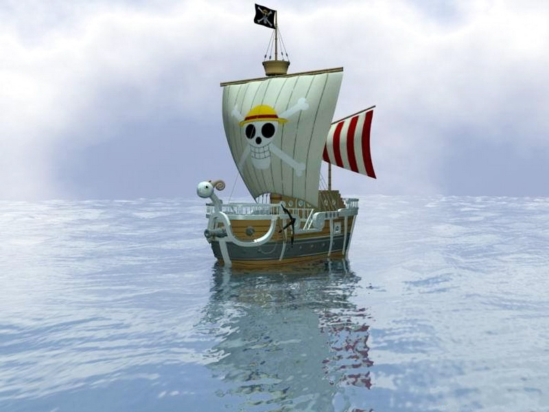 One Piece Going Merry Ship 3d rendering