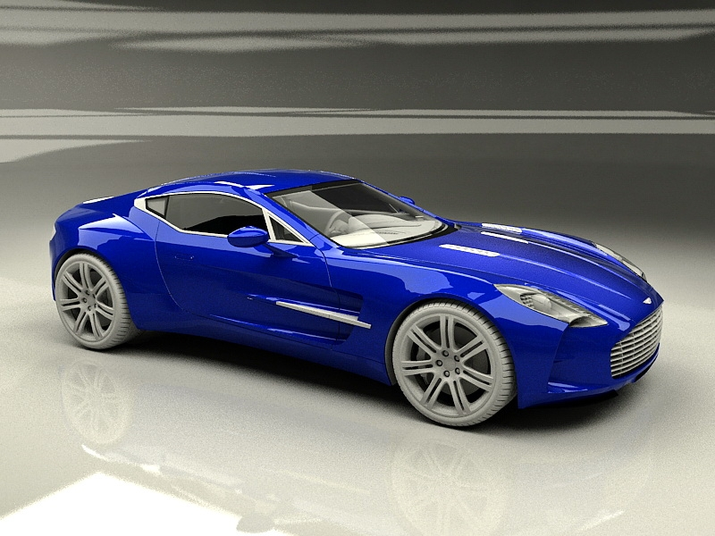 Aston Martin One-77 3d rendering