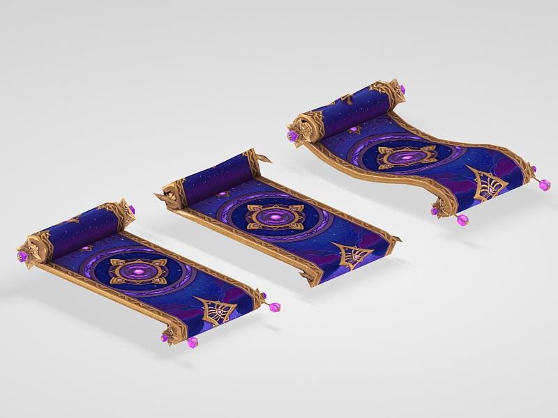 Magic Carpet 3d rendering
