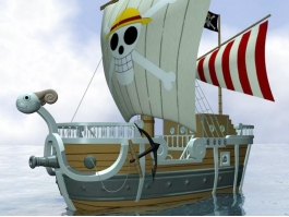 One Piece Going Merry Ship 3d preview