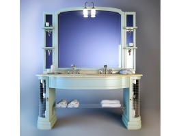 Traditional Bathroom Vanity Unit 3d preview