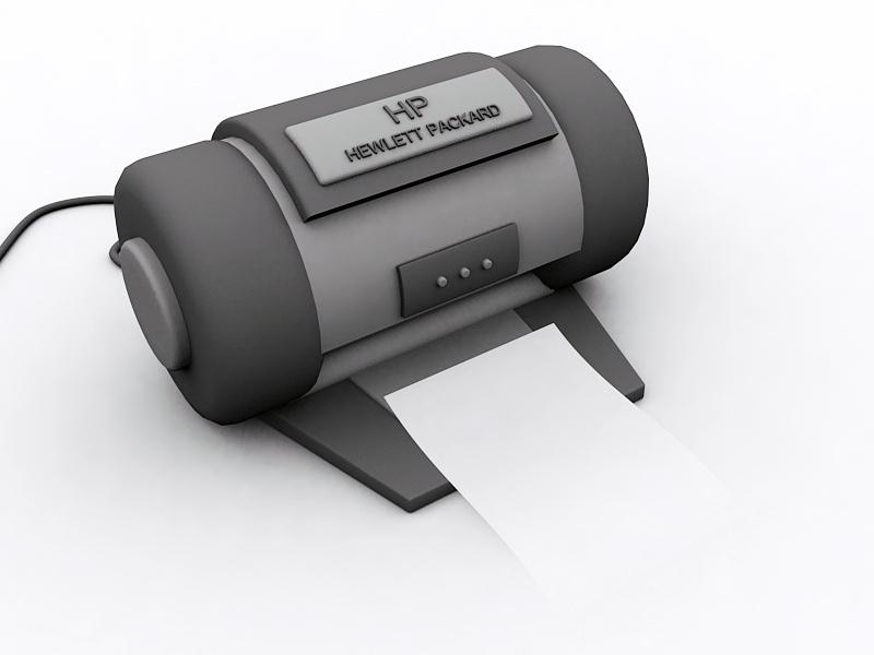Hewlett-Packard Printer 3d rendering