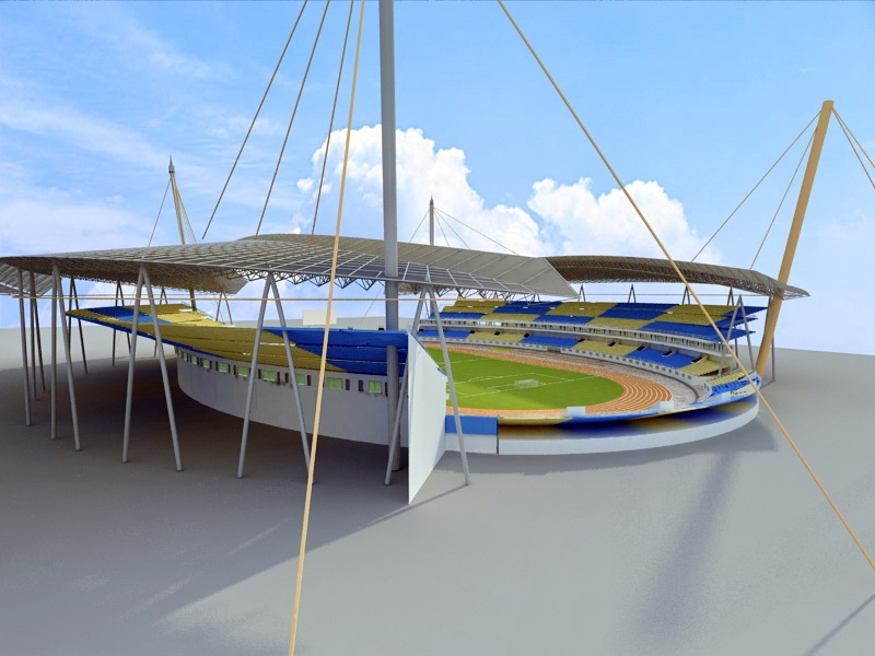 Arena Football Stadium 3d rendering