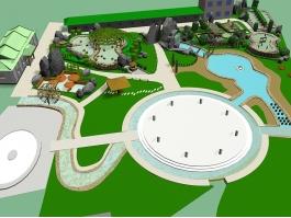 Small Park Design 3d preview