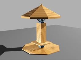 Wood Gazebo Design 3d preview