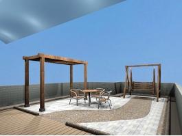 Small Patio Design Ideas 3d preview