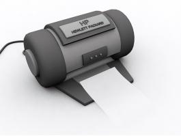 Hewlett-Packard Printer 3d preview