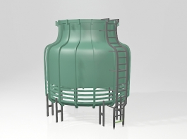 Industrial Cooling Tower 3d preview