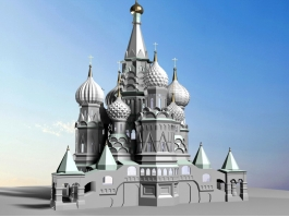 Russia Saint Basil's Cathedral 3d preview