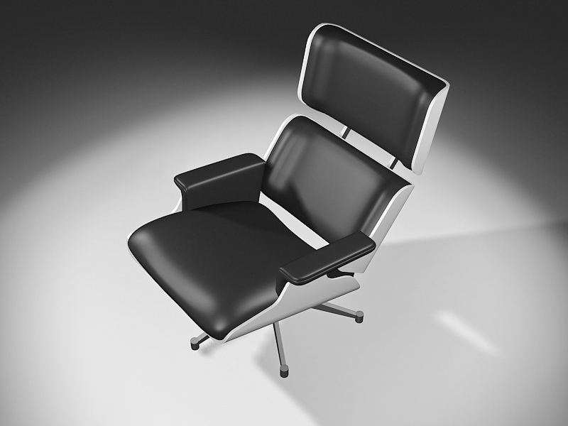 Executive Reclining Office Chair 3d rendering