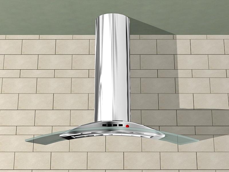 Stainless Steel Wall-Mount Range Hood 3d rendering