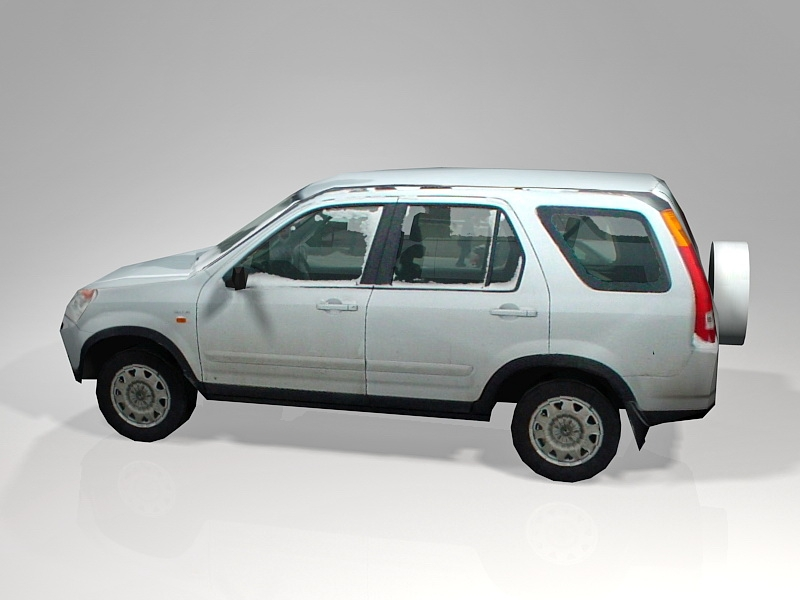 Low Poly Snow Car 3d rendering
