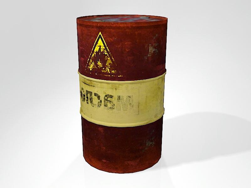 Rusty Oil Barrel 3d rendering