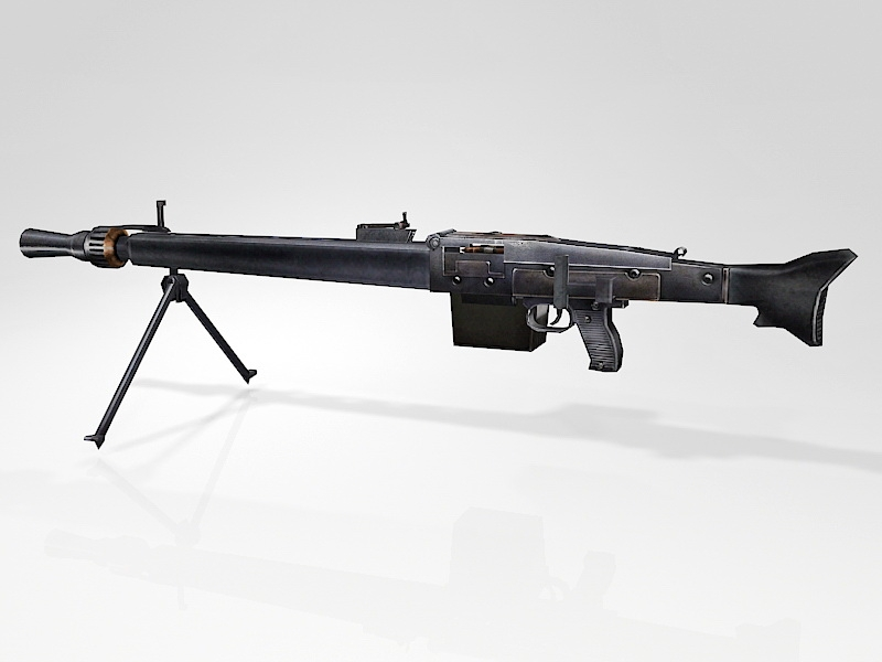 MG 3 Machine Gun 3d rendering